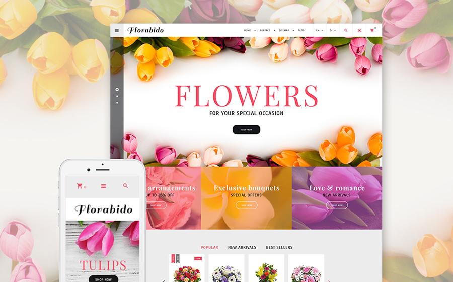 Florabido - Bouquets et arrangements floraux - modèle PrestaShop