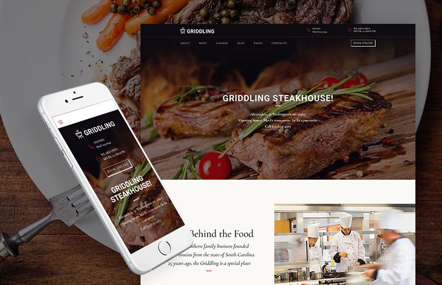 Daging & Restoran Barbekyu Tema WordPress