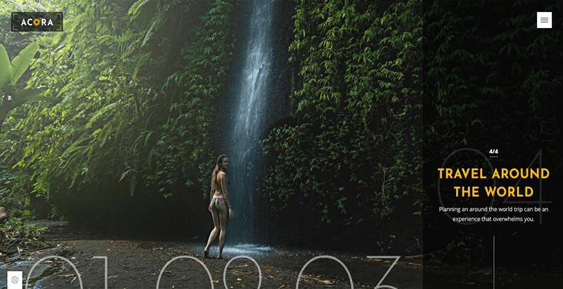 thèmes WordPress pour créer un site web de photographe - Acora