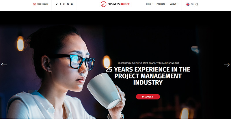 Business lounge themes wordpress creer site web pme entreprise startup