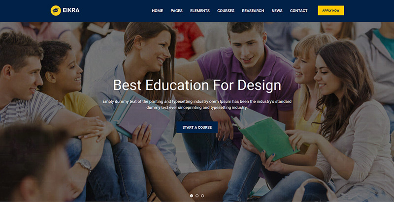 Eikra themes wordpress creer site web e learning education enseignement