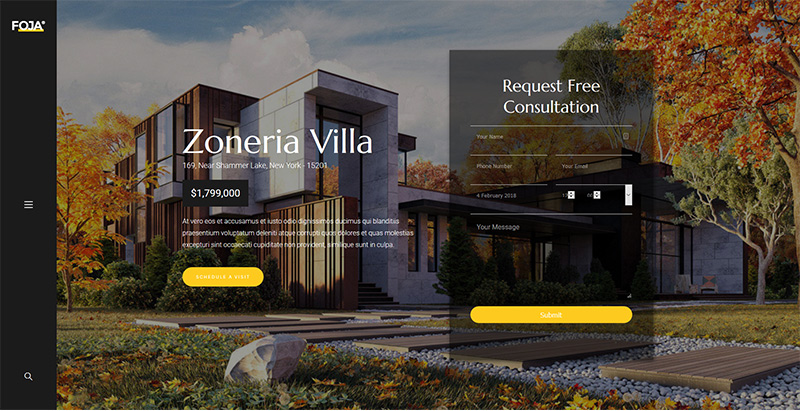 Foja themes wordpress creer site internet architecte decorateur interieur