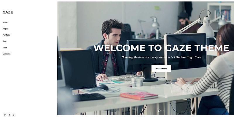 Gaze themes wordpress creer site web pme entreprise startup