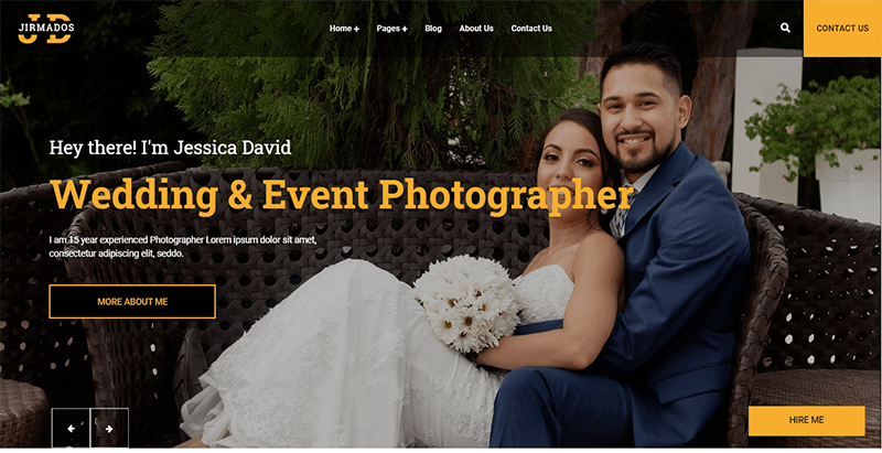 Jirmados theme wordpress creer site web photographe
