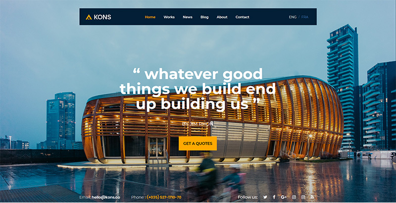 Kons Themes Wordpress Creer Site Internet Architecte Decorateur Interieur