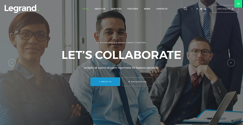 Legrand themes wordpress creer site internet avocat procureur juge