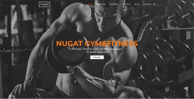 Nugat themes wordpress creer site internet club fitness