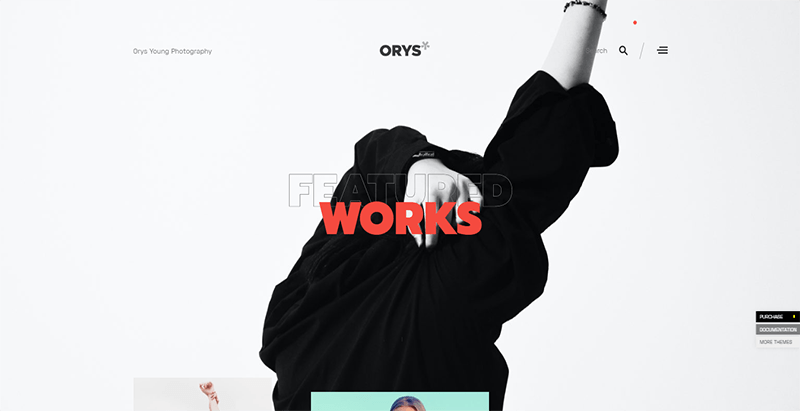 Orys theme wordpress creer site web photographe