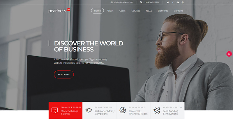 Pearl themes wordpress creer site web pme entreprise startup