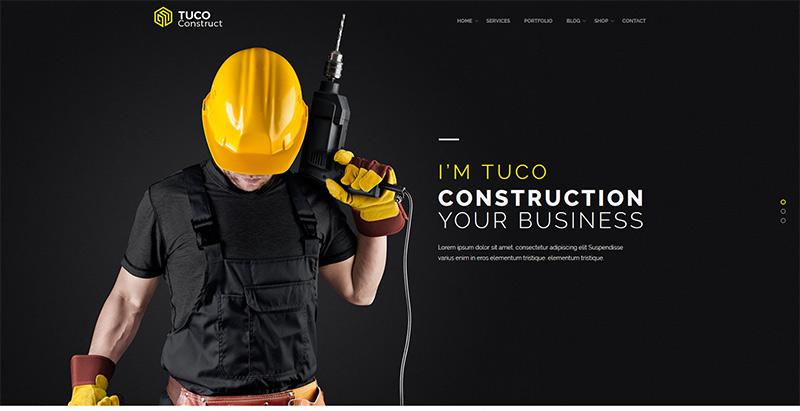 Tuco themes wordpress creer site internet architecte decorateur interieur