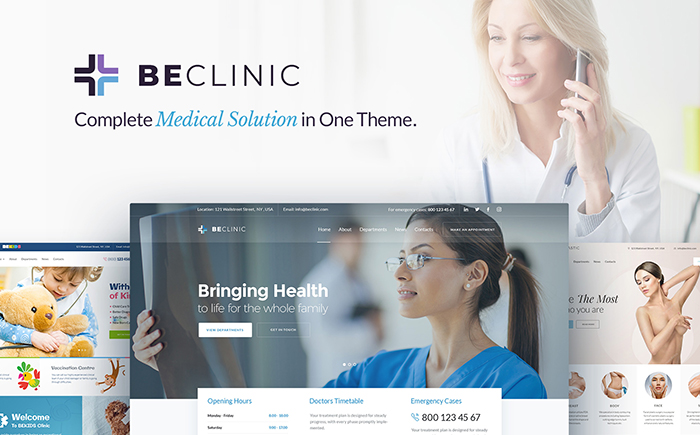 BeClinic - multi-usage medical