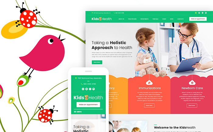 KidsHealth - Theme WordPress Clinique pour enfants