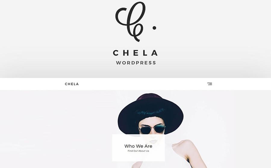 Chela - Tema WordPress di nuova generazione, completamente funzionale e minimalista per l'agenzia
