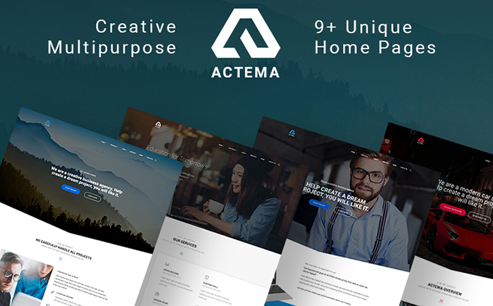 Actema - Theme WordPress polyvalent creatif pour sites d'affaires