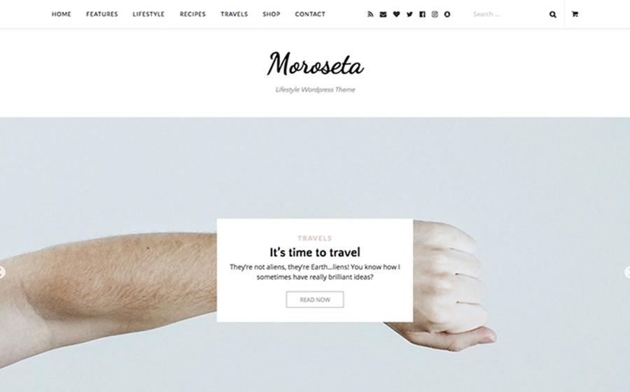Moroseta - Tema WordPress funzionale, funzionale e minimalista