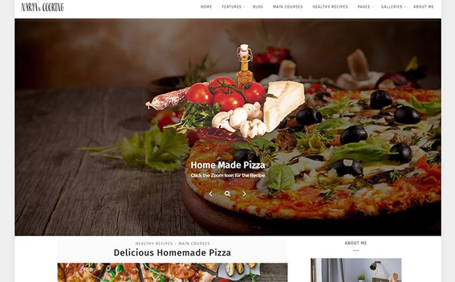 Narya - Tema WordPress gustoso e minimalista per il blog di un cuoco