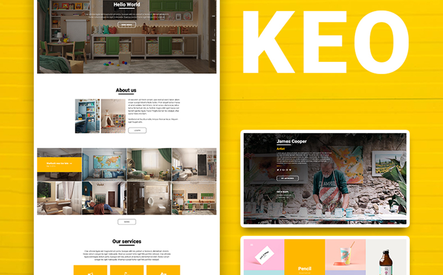 KEO - 16 Tema WordPress nel complesso multifunzionale 1 potente e colorato