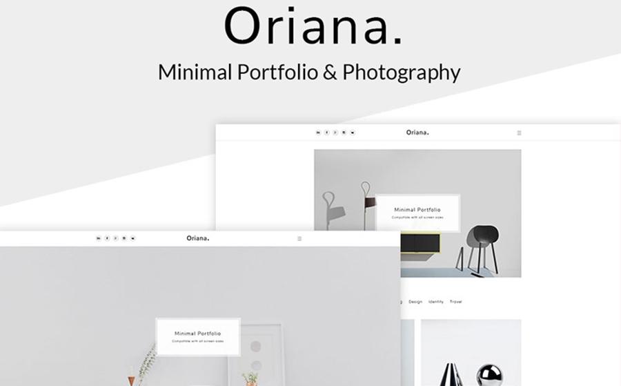 Oriana - Tema WordPress carino, nitido e minimalista per portfolio e sito di fotografia