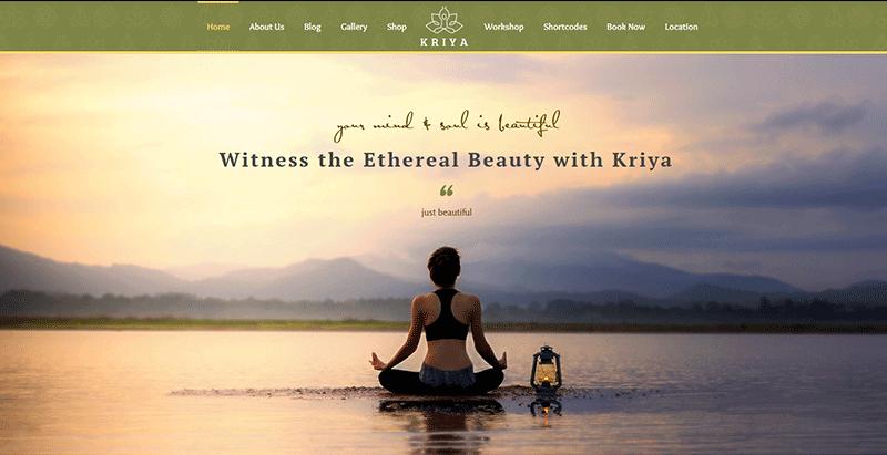 Kriya Yoga Themes Wordpress Creer Site Internet Club Yoga