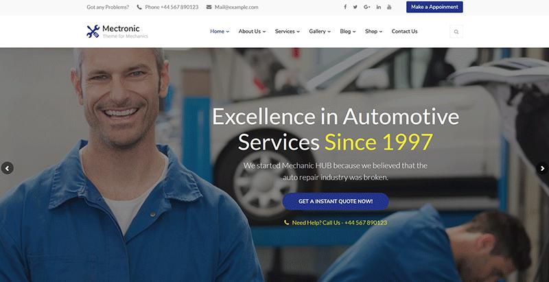 créer un site web d'entreprise - Mectronic themes wordpress creer site internet entreprise compagnie startup