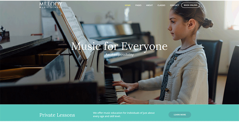 Melody themes wordpress creer site web ecoles de formation