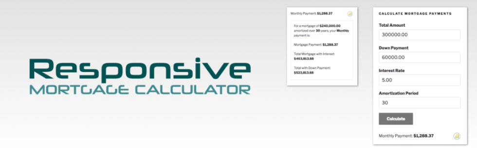 Responsive Mortgage Calculator plugin wordpress calculatrice