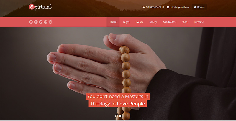 meilleurs thèmes WordPress - Spiritual