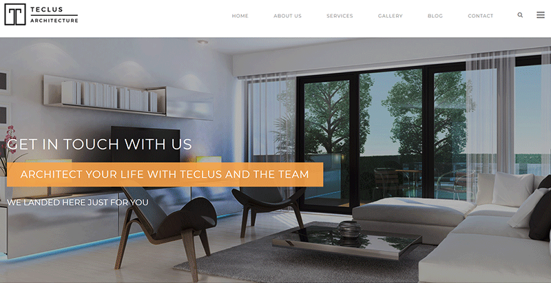 Teclus themes wordpress creer site web architectes creatif architecture
