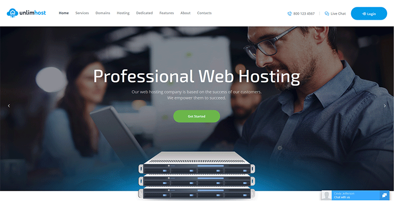 Unlimhost themes wordpress creer site web entreprise hebergement hosting