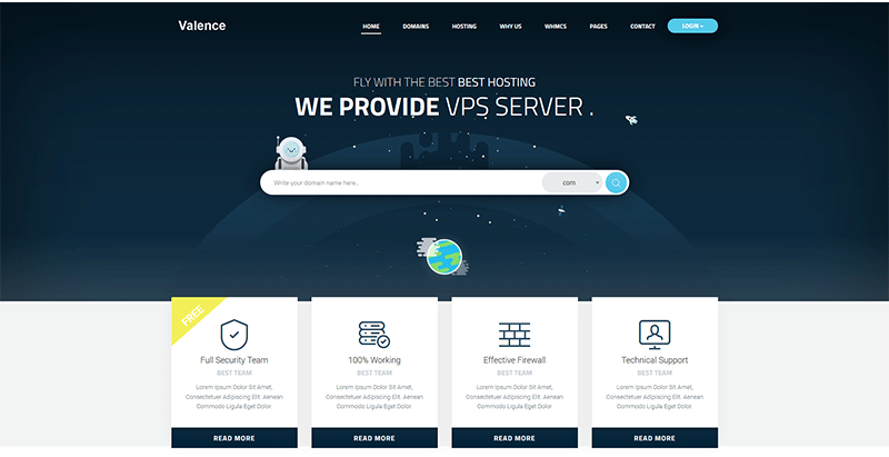 Valence themes wordpress creer site web entreprise hebergement hosting