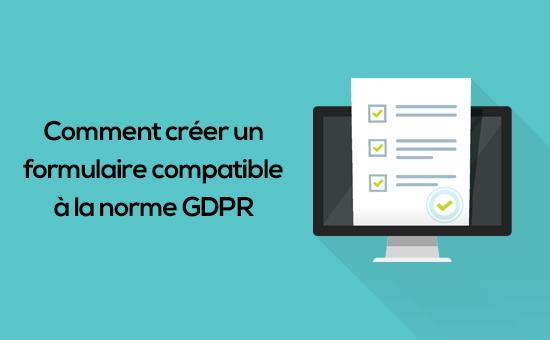 como criar um formulário compatível com o GDPR