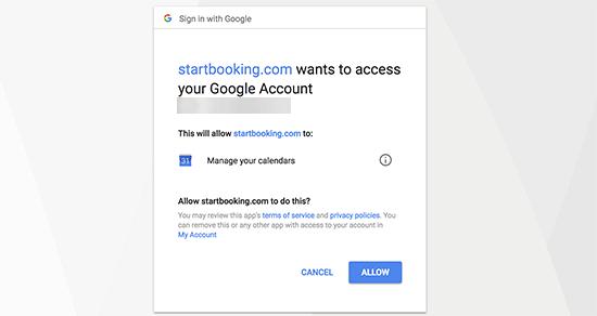 conecte-se ao Google com o StartBooking.png