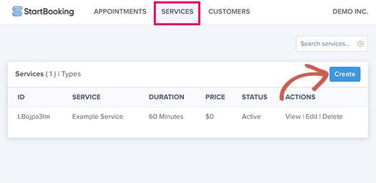 exemplo de serviço WordPress startbooking.png
