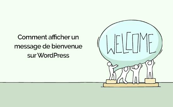 Message daccueil wordpress