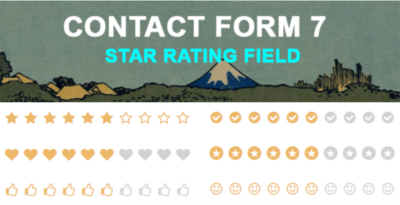 Contact form 7 star rating field plugins wordpress recueillir avis utilisateurs