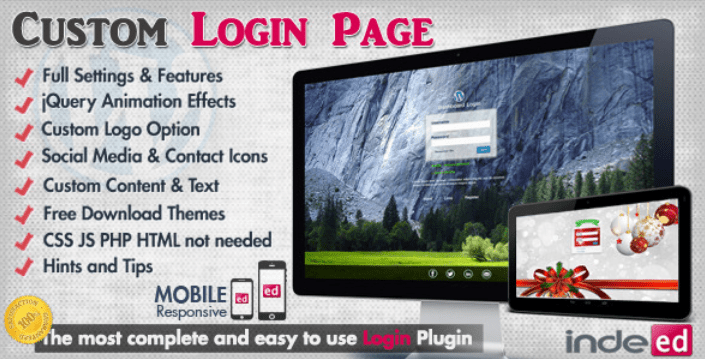 Custom login theme page plugins wordpress creer formulaire connexion login