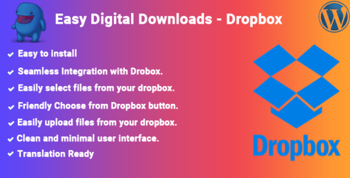 Dropbox plugins easy digital downloads boutique ligne telechargements numerique