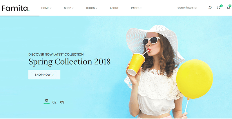 Famita themes wordpress creer site web e commerce