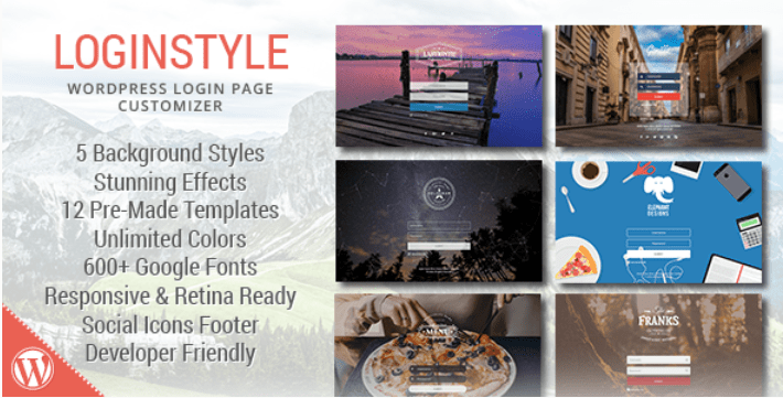 Loginstyle plugins wordpress creer formulaire connexion login