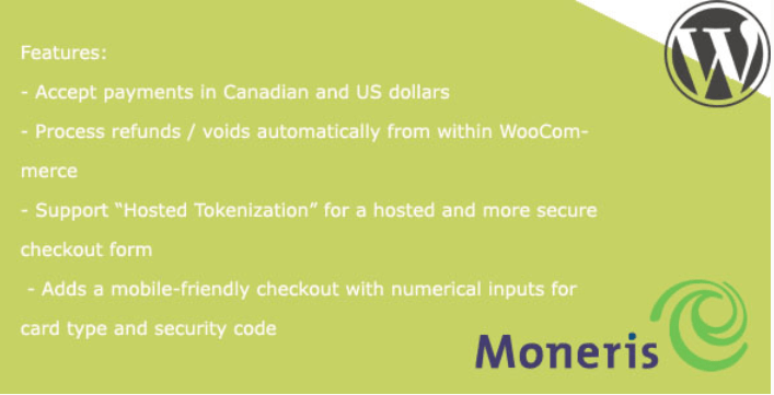 Moneris gateway for woocommerce