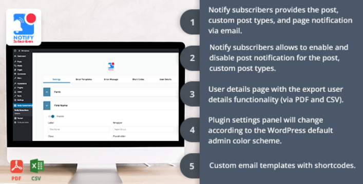 Notify subscriber plugins wordpress creer newsletter site web