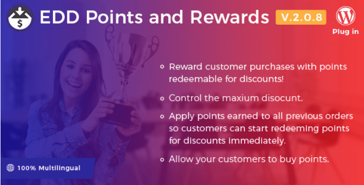 Points and rewards plugins easy digital downloads boutique ligne telechargements numerique