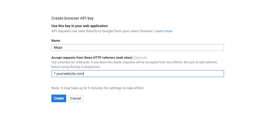 adicionar uma chave de API a um project.jpg