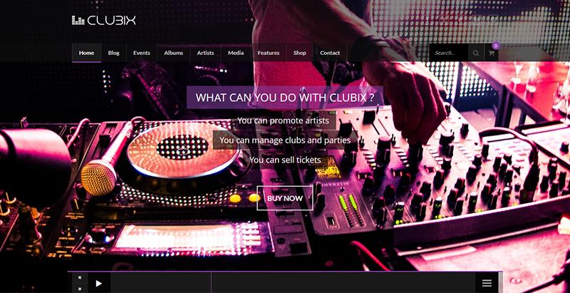 Clubix nightlife - meilleurs thèmes WordPress pour créer un site web d'évènement