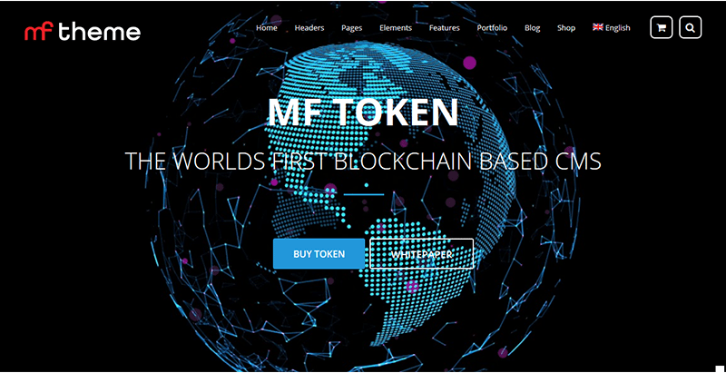 Crypto Ico Mf Premium Wordpress Theme