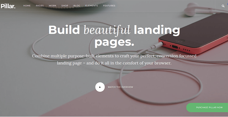 Pilar tema wordpress criar site criativo