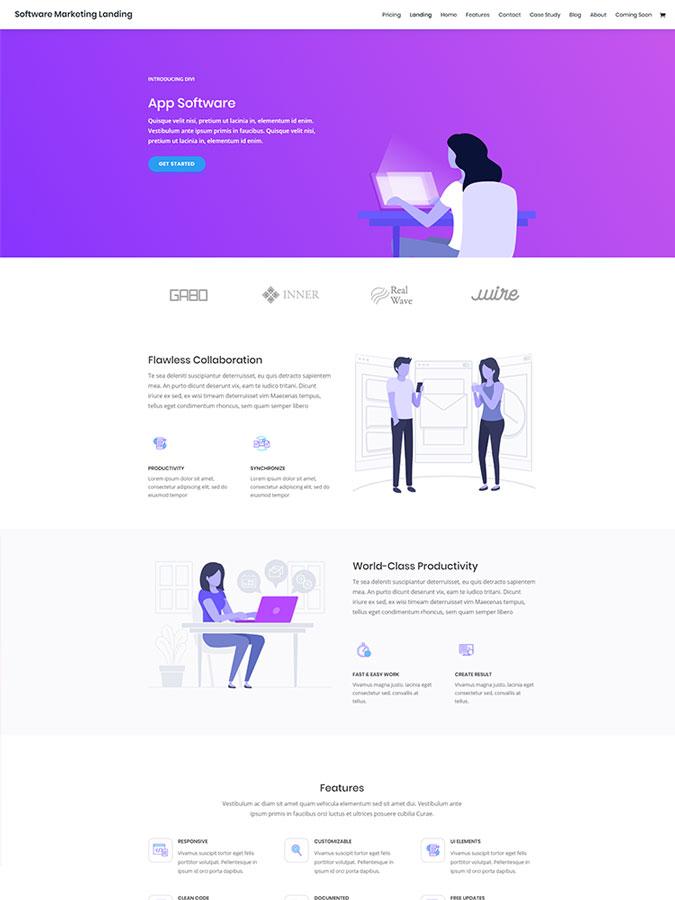 Divi wordpress theme layouts créer site vendre applications mobiles