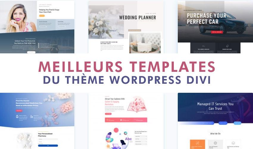 Meilleurs thèmes templates layouts divi comment créer site web wordpress