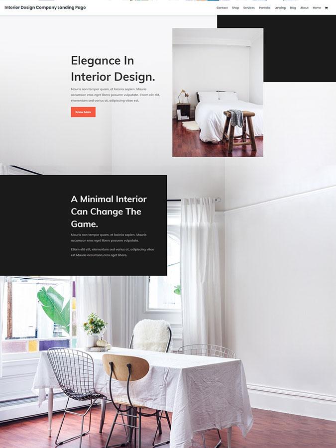 Template layout divi créer site web décoration intérieure design