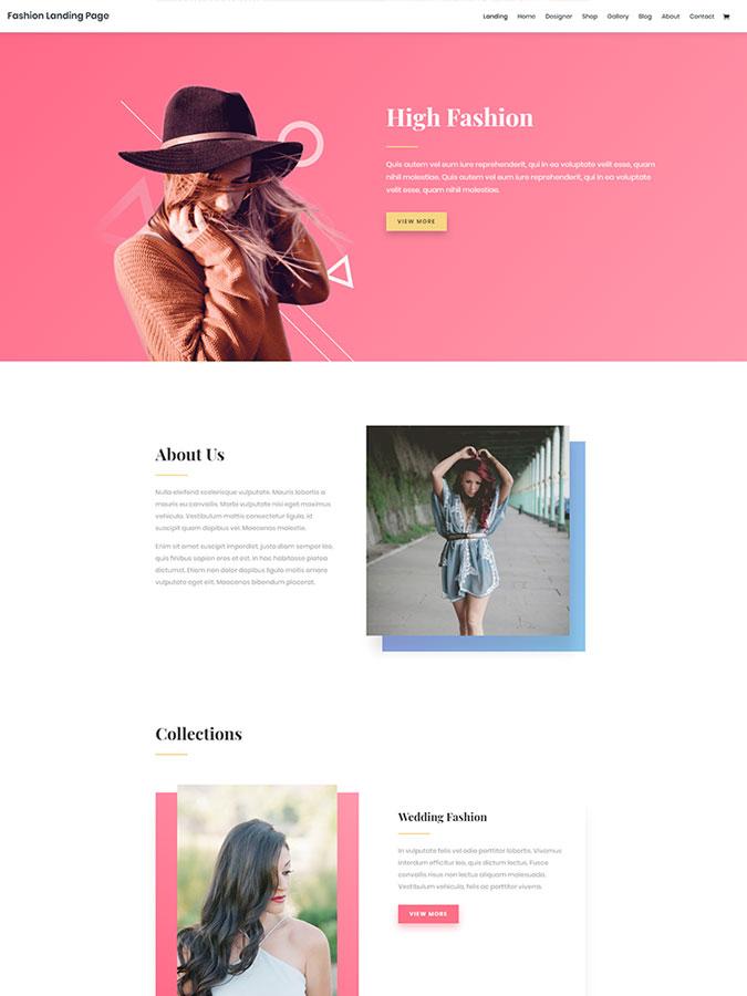 Templates themes wordpress divi créer blog mode habillement internet